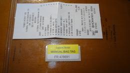Bus Ticket From BULGARIA (Sunny Beach To Varna) With Bag Tag - Bus Fahrkarte - Transportation