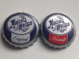 Lote 2 Chapas Kronkorken Caps Tappi Cerveza Maisel's Weisse. Alemania - Beer
