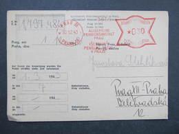 Brief Praha 36  Allgemeine Pensionsanstalt 1943 B.u.M. Frankotype Postfreistempel // M9173 - Böhmen Und Mähren