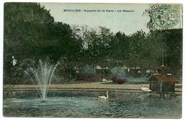 03 : MOULINS - SQUARE DE LA GARE - LE BASSIN - Moulins