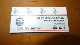 Bus Ticket From Warsaw POLAND 4,40zl Poland - Fahrkarte - Transportation