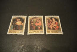 K16147 - Set MNH  San Marino - 1981 - - SC.  1014-1016 -  Christmas - Noël