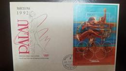 L) 1992 PALAU, OLYMPIC, SPORT, ATHLETICS, PALAU SALUTES THE OLYMPIAN INNOVATORS, FDC - Palau