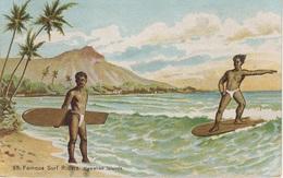 AK Famous Surf Riders Hawaiian Islands Surfing Surfers Kauai Maui Hilo Lanai Oahu Honolulu Hawaii HI United States USA - Hawaï