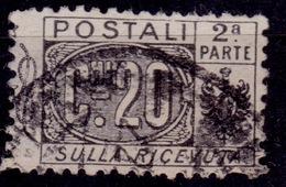 Italy, 1917, Parcel Post, Half, 20c, Sc#Q9, Used - 1900-44 Vittorio Emanuele III