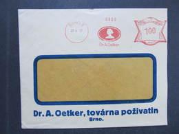 Brief Brno Dr.A.Oetker 1937 Frankotype Postfreistempel // M9235 - Tschechoslowakei/CSSR