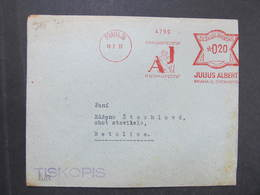 Brief Praha 36 Julius Albert 1933 Frankotype Postfreistempel // M9239 - Czechoslovakia