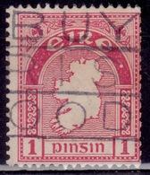 Ireland 1940-42, Map Of Ireland, 1p, Sc#107, Used - 1922-37 Stato Libero D'Irlanda