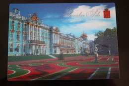 LENTICULAR  Postcard - Russie, Tsarskoe Selo Palace -     STEREO 3D PC - Cartes Stéréoscopiques