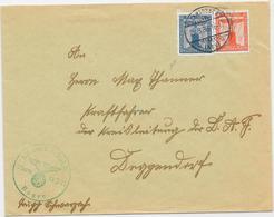 DR Dienst Brief Der SA Der NSDAP Sturm 11/3 13 Bogen, Mif. Mi.146,149 Schwarzach 25.3.38 - Allemagne
