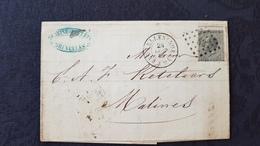 2 Lettres Classiques Belges. 1869,1870 - Marcophilie