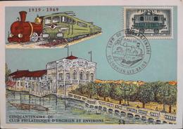 CP. Evenementiel 1969 - Exposition Du Cinquantenaire - Enghien-les-Bains Les 4/5.10.1969 - TB. état - Philatelic Exhibitions