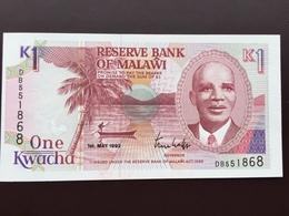 MALAWI P23 1 KWACHA 1992 UNC - Malawi