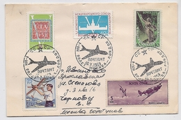 MAIL Post Cover USSR RUSSIA Aviation Plane Astronomy Set Stamp London England - Covers & Documents