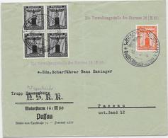 DR Dienst Brief Der NSKK Motorsturm 16/M 80 Passau Mif. MI.144,149 Wegscheid 1938 - Allemagne