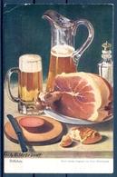 1918 AUSTRIA  , TARJETA POSTAL CIRCULADA , CERVEZA , BREWERIANA , ILUSTRADORES - FRITZ HILDEBRANDT - Otros Ilustradores