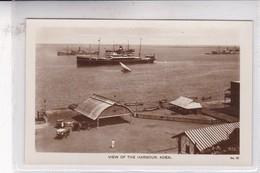VIEW OF THE HARBOUR, ADEN. LEMEN & CO. CIRCA 1920's. YEMEN- BLEUP - Yemen
