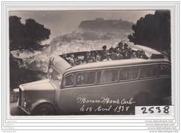 5879 AK/PC/CARTE PHOTO/2538/ MONTE CARLO / GARAGE / ESCURSION EN AUTOBUS A.COLOMB A NICE/15 AVRIL 1938 - Monte-Carlo