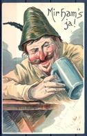 1905 ALEMANIA  , TARJETA POSTAL CIRCULADA , CERVEZA , BREWERIANA , ILUSTRADORES , KRAIBURG - TRAUNSTEIN - Otros Ilustradores