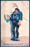 1911 SUIZA  , TARJETA POSTAL CIRCULADA , CERVEZA , BREWERIANA , ILUSTRADORES , ZÜRICH - TRAUNSTEIN - Otros Ilustradores