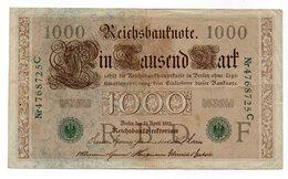 Germania - 1910 - Banconota Da 1000 Marchi - Bollo Verde - (FDC12159) - 1000 Mark