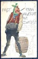 1903 ALEMANIA  , TARJETA POSTAL CIRCULADA , CERVEZA , BREWERIANA , ILUSTRADORES - Otros Ilustradores