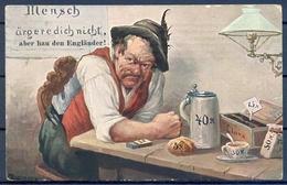 1916 ALEMANIA  , TARJETA POSTAL CIRCULADA , CERVEZA , BREWERIANA , ILUSTRADORES , MÜNICH - KARLSTADT - Otros Ilustradores