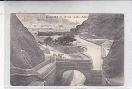 GENERAL VIEW OF THE TANKS, ADENBENGHIAT SON, VOYAGE, AUTRE MARQUE. CIRCA 1920's. YEMEN- BLEUP - Yemen