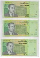 Maroc 3 Billets De 50 Dirhams  De 1987 - Maroc