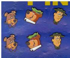 6 Pin's Yogi Bear - Stripverhalen