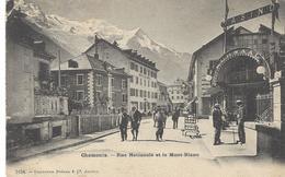 74 CHAMONIX RUE NATIONALE RUE VALLOT AUJOUR' HUI CASINO HÔTEL DE PARIS GLACIER DES BOSSONS MASSIF DU MONT - BLANC - Chamonix-Mont-Blanc