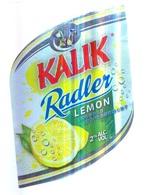 BAHAMAS : KALIK Beer  RADLER LEMON  With Top And Back Label - Beer