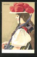 Künstler-AK Sign. Bühler: Gutach, Frau In Schwarzwälder Gutach-Tracht - Costumi