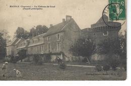 16 - MANSLE - ( CHARENTE ) - Le Château De Goué  - Façade Principale ( Animation ) - Mansle