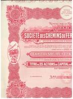 Action Uncirculed - Société Des Chemins De Fer Vicinaux Du Congo - Titre De 1947 - Chemin De Fer & Tramway