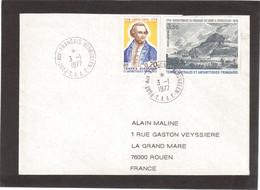 E16 - TAAF PO 63 - PA 47 - 3.1.1977 PORT- AUX-FRANCAIS KERGUELEN - 1ère Date Sur Portrait De James COOK .(PO 63) - Terres Australes Et Antarctiques Françaises (TAAF)