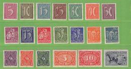 MiNr.177-196 Xx  Deutsches Reich - Allemagne