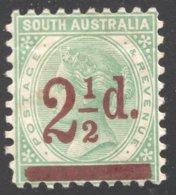 2½d. On 4d. Perf 10  SG 229  MM - 1855-1912 South Australia