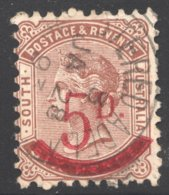 5d. On 6d. Deep Brown  SG 230a - 1855-1912 South Australia