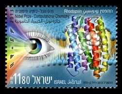 Israel 2015 Mih. 2456 International Year Of Light. Nobel Prize 2013. Computational Chemistry Rhodopsin MNH ** - Ungebraucht (ohne Tabs)