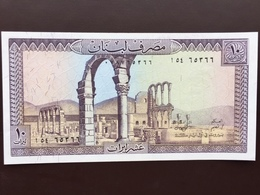LEBANON P63 10 LIVRES 1964.1986 UNC - Liban