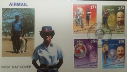 O) 1988 PAPUA NEW GUINEA, HISTORICAND MODERN ASPECTS - POLICE FORCE-WILLIAM MEGREGOR-ALBERT HAHL - FDC XF - Papua New Guinea
