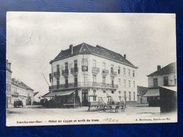 Knocke-sur-Mer/Knokke-Heist/-Hôtel Du Cygne Et Arrêt Du Tram-animée-1906 - Knokke