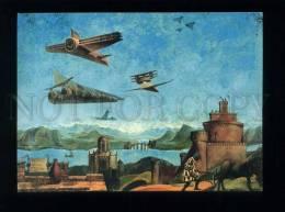 179217 Denis Mesentsev UFO Over Italy Postcard - Illustrateurs & Photographes