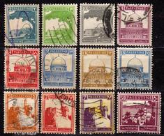 PALESTINE - Mandat Britannique - Collection 1927 / 1928 - 12 Timbres Oblitérés - Palestine