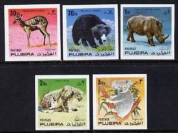 Fujeira 1971 Wild Animals Imperf Set Of 5 U/m (Mi 792-6B)  ANIMALS - Fujeira