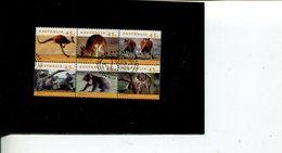 (stamps 999 - 29-09-2018) Australia - Kangaroo And Koala Block Of 6 - Used - 1994 - Sheets, Plate Blocks &  Multiples