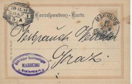 AK 0042  Correspontenzkarte An Den Grazer Verbrauchs-Verein Aus Marburg Um 1897 - 1850-1918 Imperium