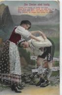 AK 0042  Die Tiroler Sind Lustig - Silber-Prägekarte Um 1934 - Tänze