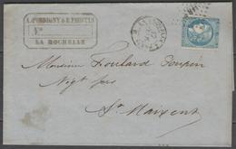 Ambulant LARP Sur N°46B + CàD LA ROCHELLE A PARIS B Sur LAC De 1871 - Marcophilie (Lettres)